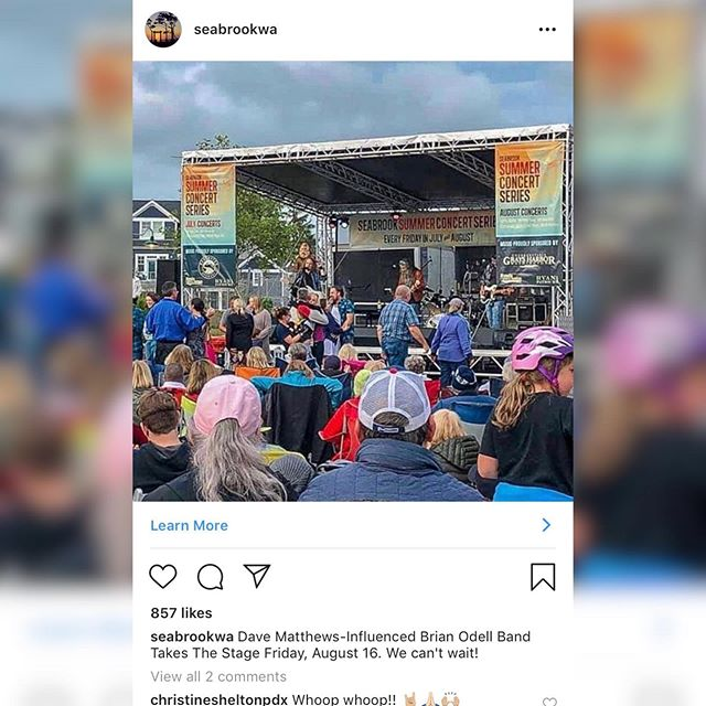 Are you ready for an amazing night of music and fun @seabrookwa ?! We're so excited to be part of this year's Seabrook Summer Concert Series lineup!! We'll see you Friday night, 8/16, 7p-9p!! #thebrianodellband #seabrookwa #summerconcertseries #summerconcerts #pacificbeach #washingtoncoast #coastalstyle #livemusic #lovelivemusic #originalmusic  #pnwmusic