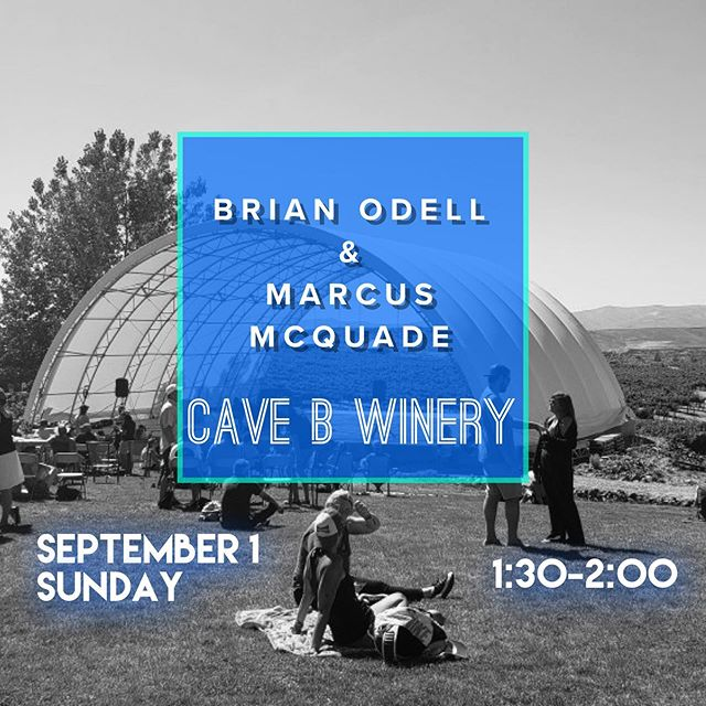 SHOW ANNOUNCEMENT!! Who's at the Gorge for the @davematthewsband shows?! We picked up a 30-minute set at Cave B Winery on Sunday, Sept. 1st!! Brian & Marcus will be jammin' at @stagebcaveb from 1:30p-2p.  Honored to be able to play music in this beautiful place that means so much to so many!! #brianodellband #livemusic #davematthewsband #cavebwinery #dmbgc #gorgeamphitheater