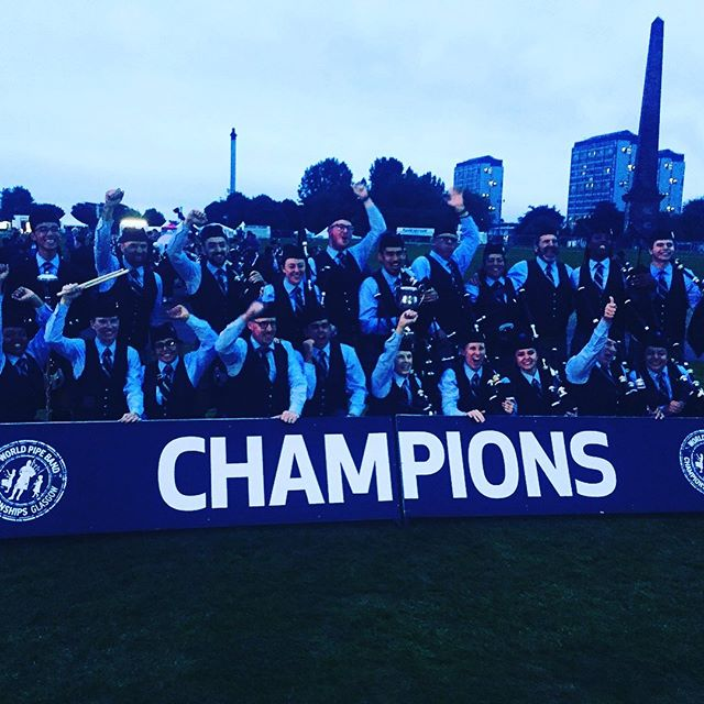 One year ago today, we became the Grade 3B World Champions! What an amazing years it's been being the reigning champs! Good luck to all the bands competing this year! #wpbc #wpbc2018 #worldpipebandchampionships