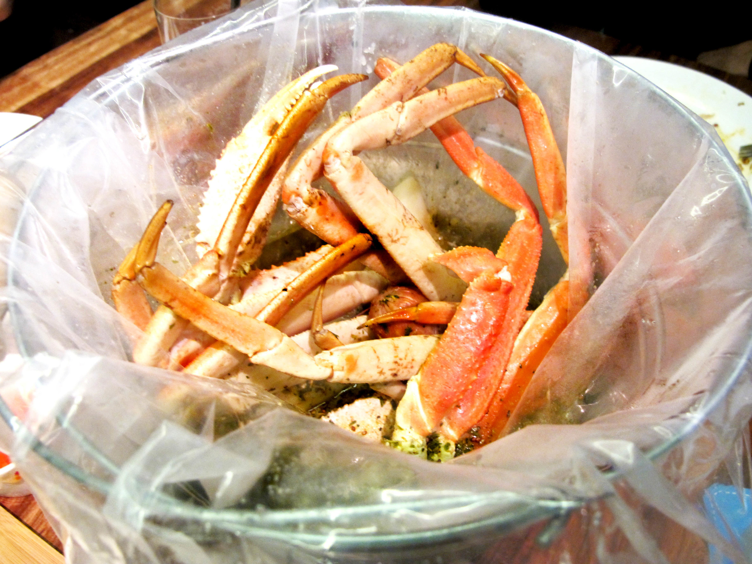 The King Crab Legs were meaty and delicious - really fun to get stuck into and mega tasty with the sauce they served them with!