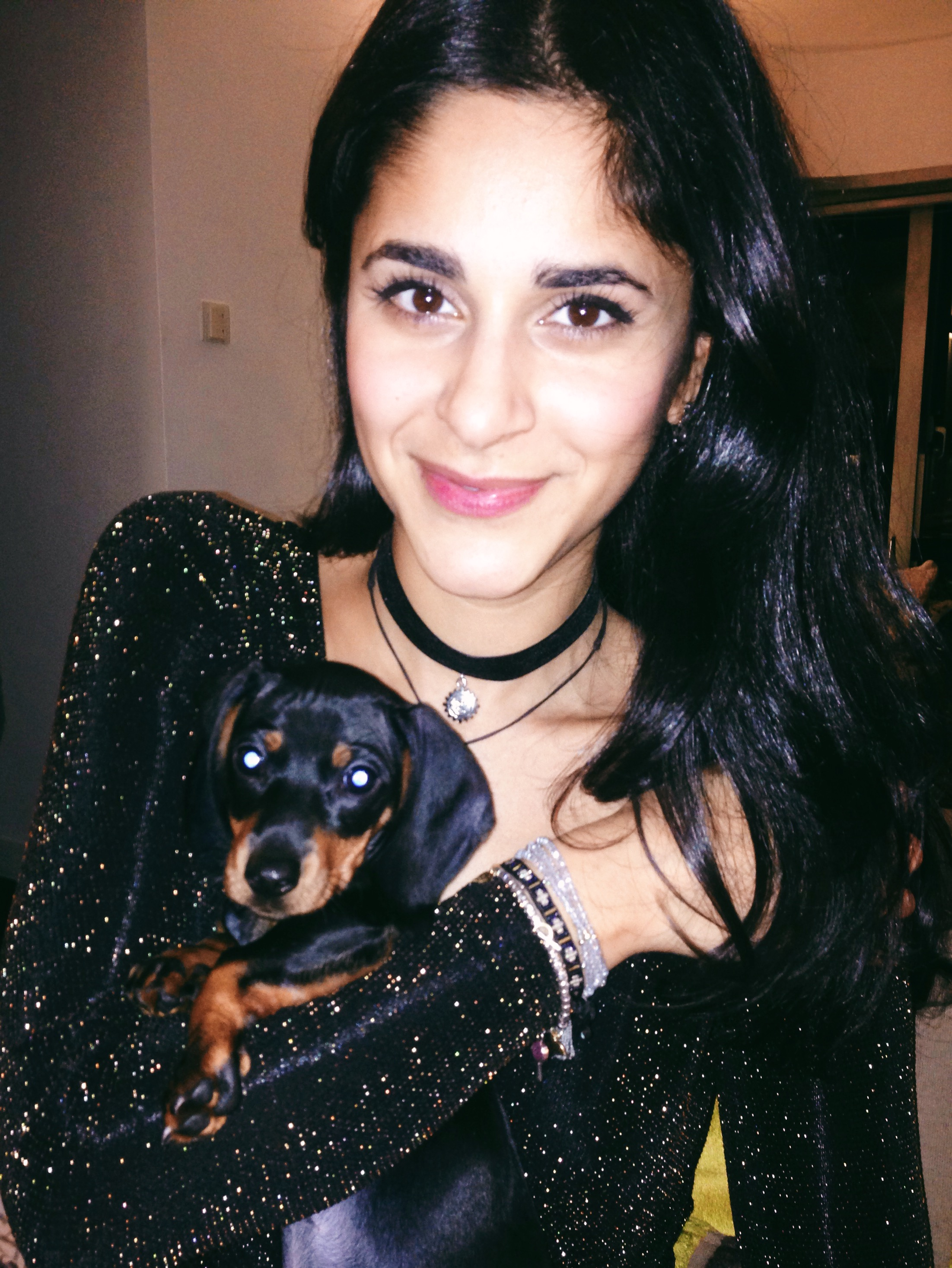 Happy new year! here I am with a puppy.