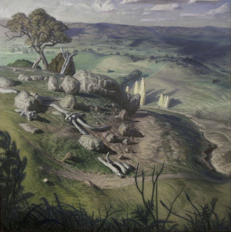 "Final painting: ""Bathurst Rhythms"". Oil on linen. 65x65cm."