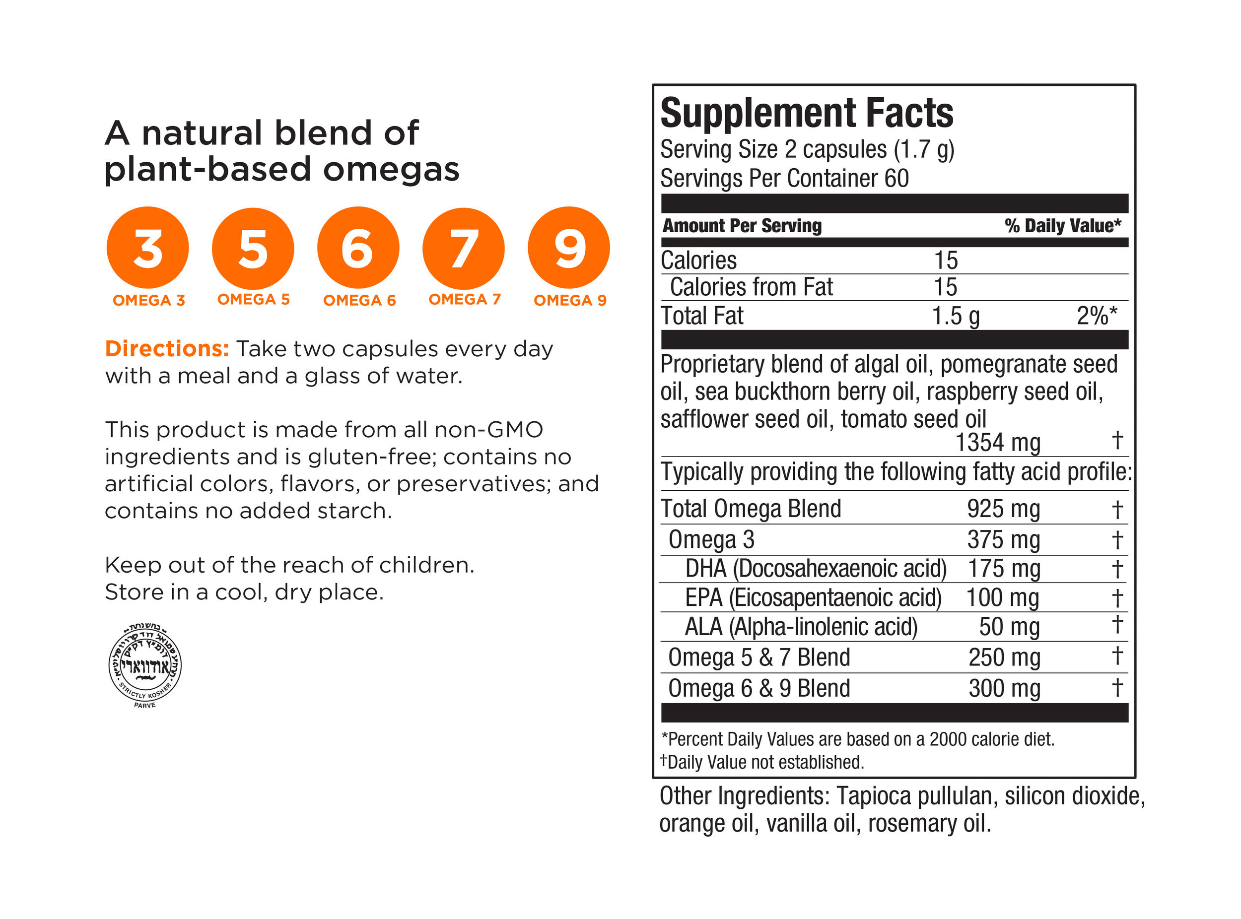 Here is the ingredient label of the exact plant based omega blend I use. When you order these beautiful EFA + Omega nutrient rich babies from me, I will be gifting you The Healthstyle Emporium, my online 16 week holistic health program, totally free of charge.    Click here  to check it out. When you email me, please mention this blog's offer.