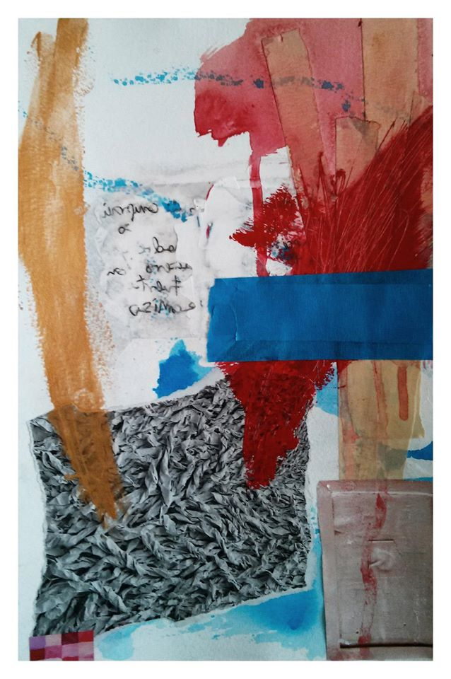 Untitled, 2013, mixed media and collage on paper, 40x25cm