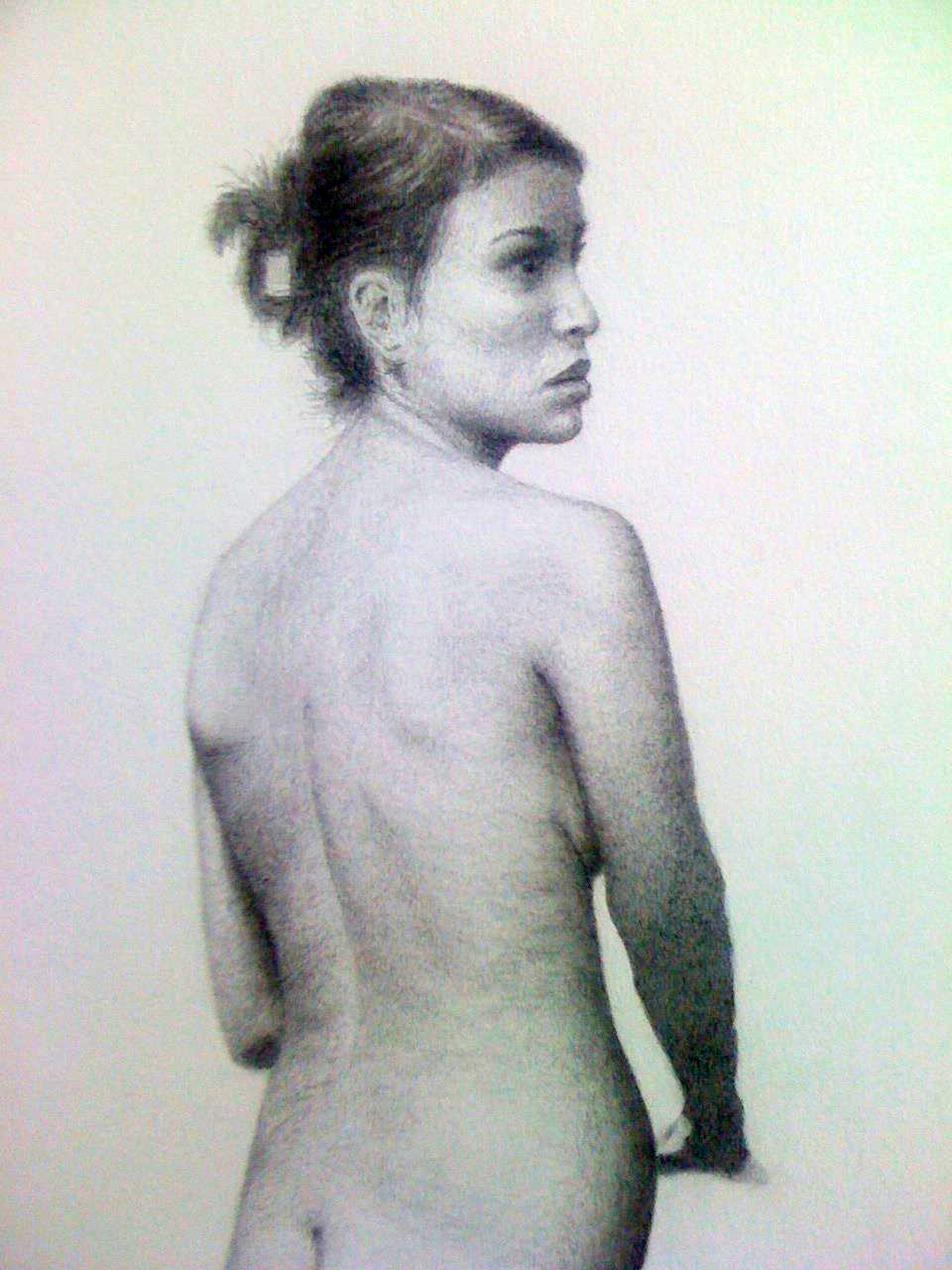 Figure Drawing Study, 2012, pencil on paper