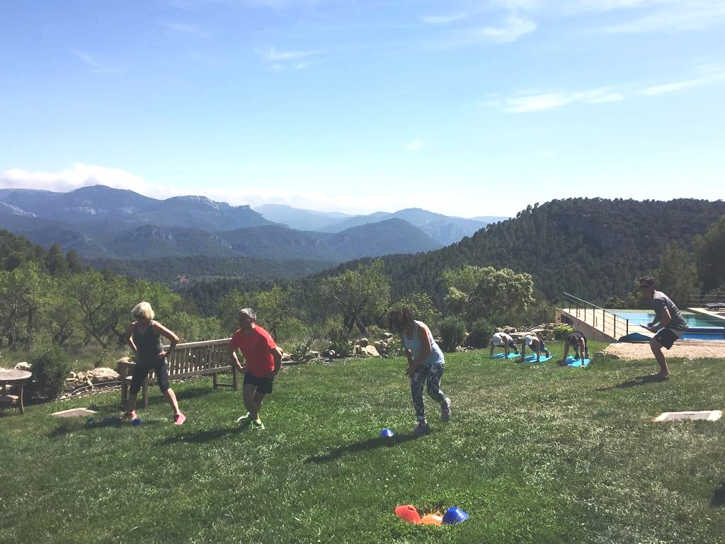 trail running and hiking in the spanish mountains