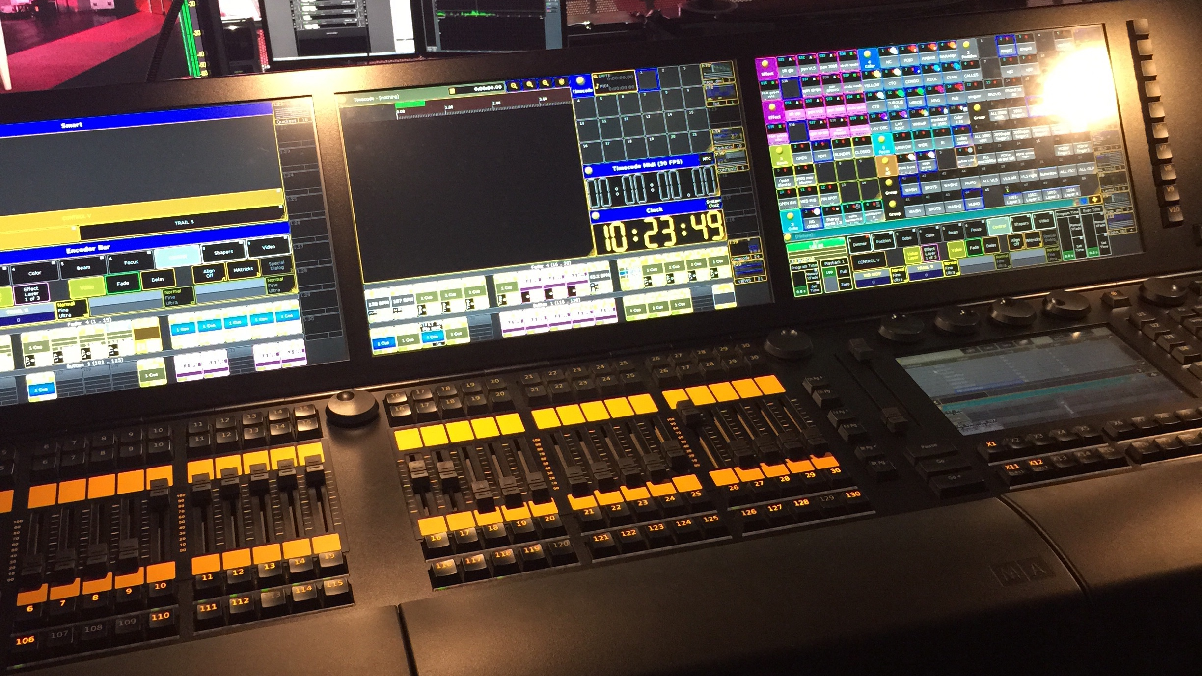 The console, in Spanish, I have to get my head around for the show...