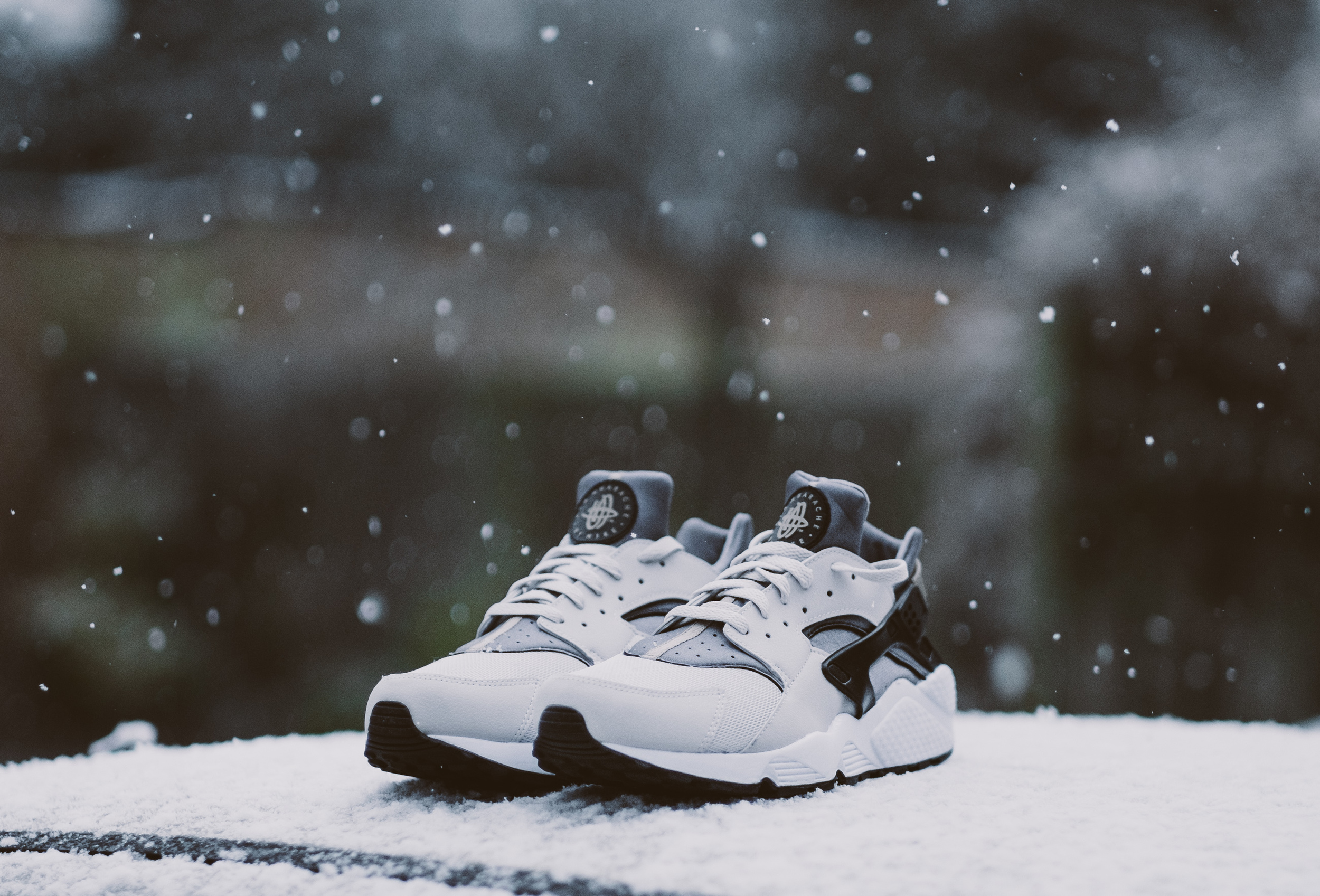 "Normal person : ""It's snowing, snow ball fight!"" Me : ""I could take a pretty cool photo of my new trainers!"""