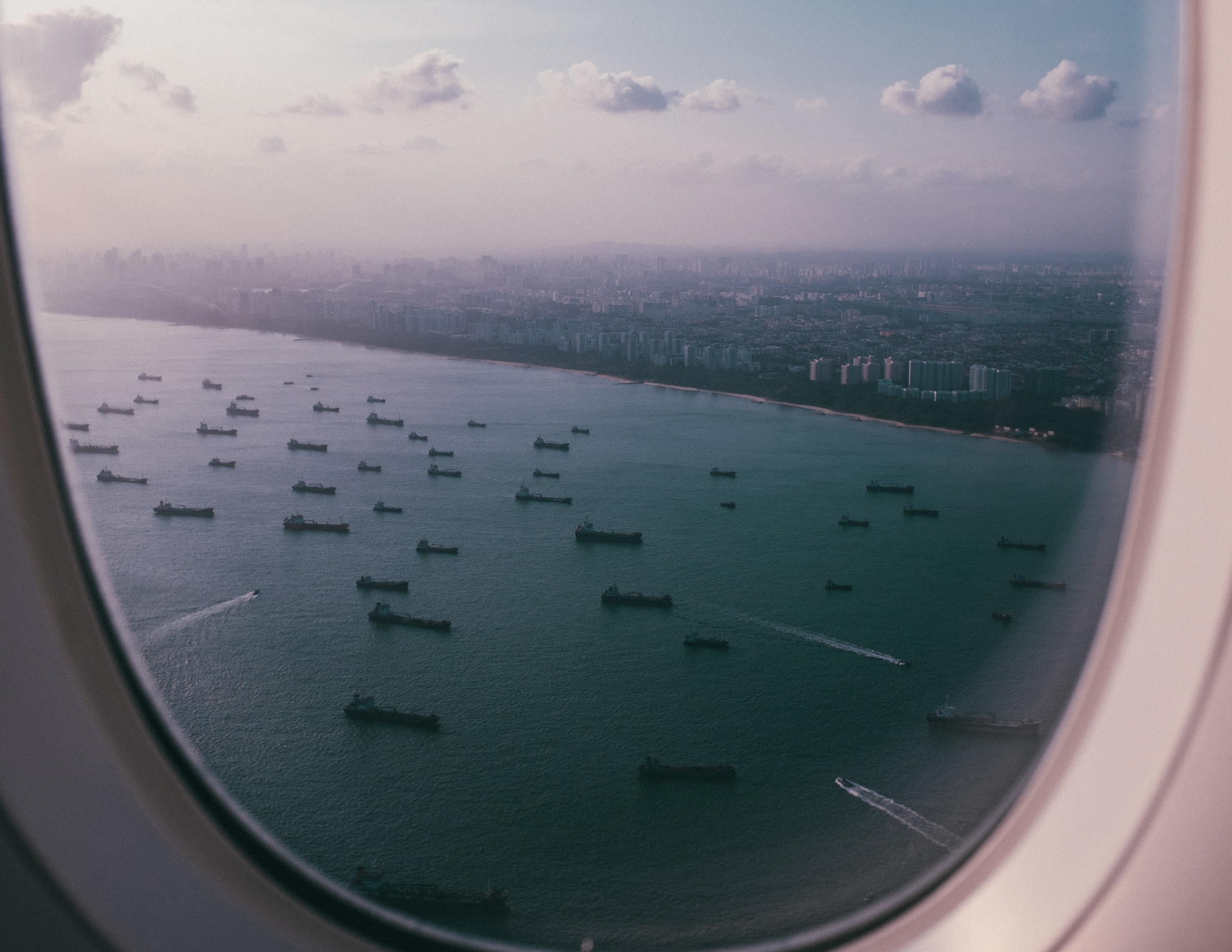 Arriving into Singapore...