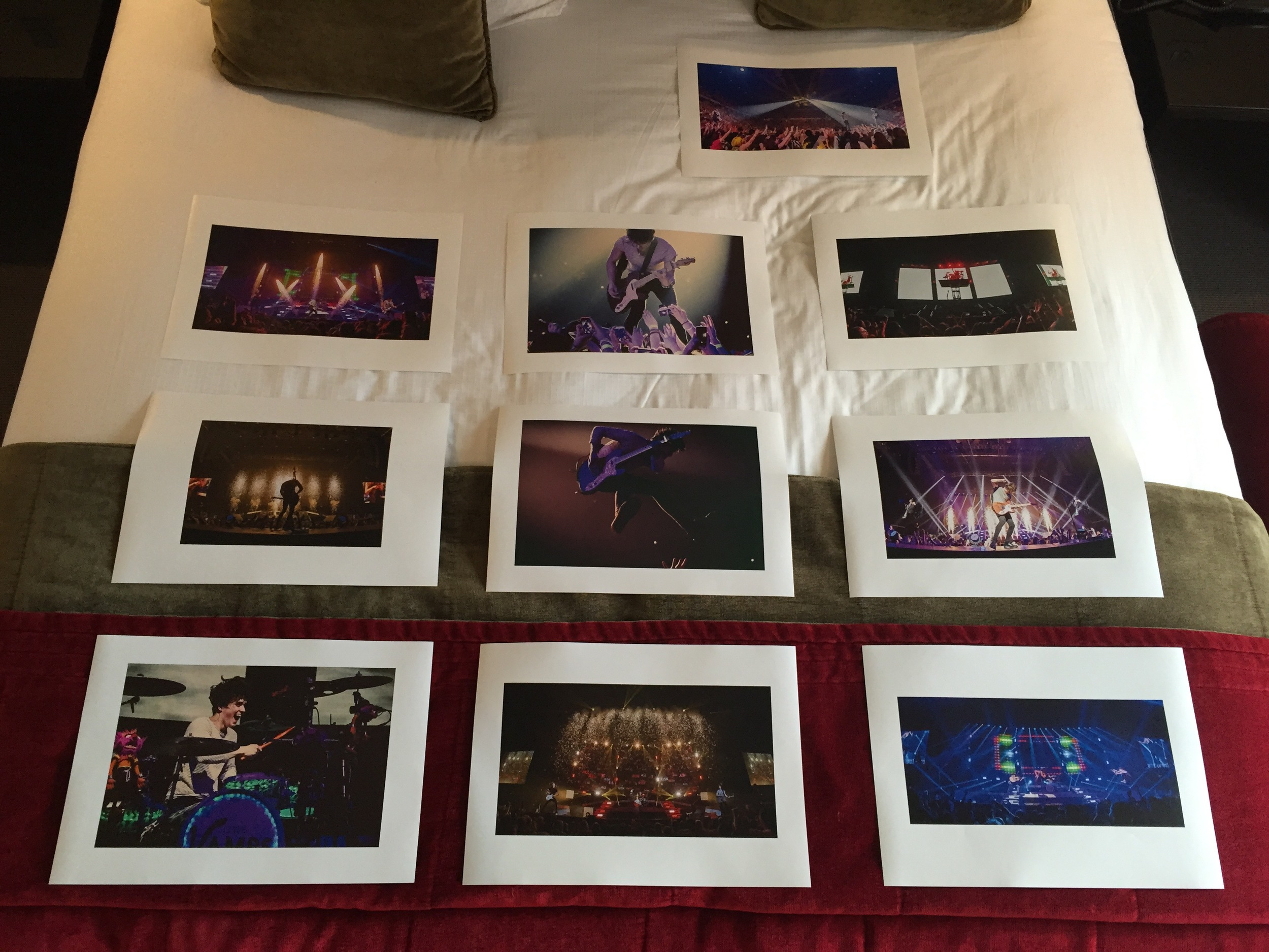 Some A3 prints from one of the shows. These will be on the walls in the crew room for my camera operators to see the sort of show they are about to work and hopefully portray some of the energy the boys bring to the stage each night.