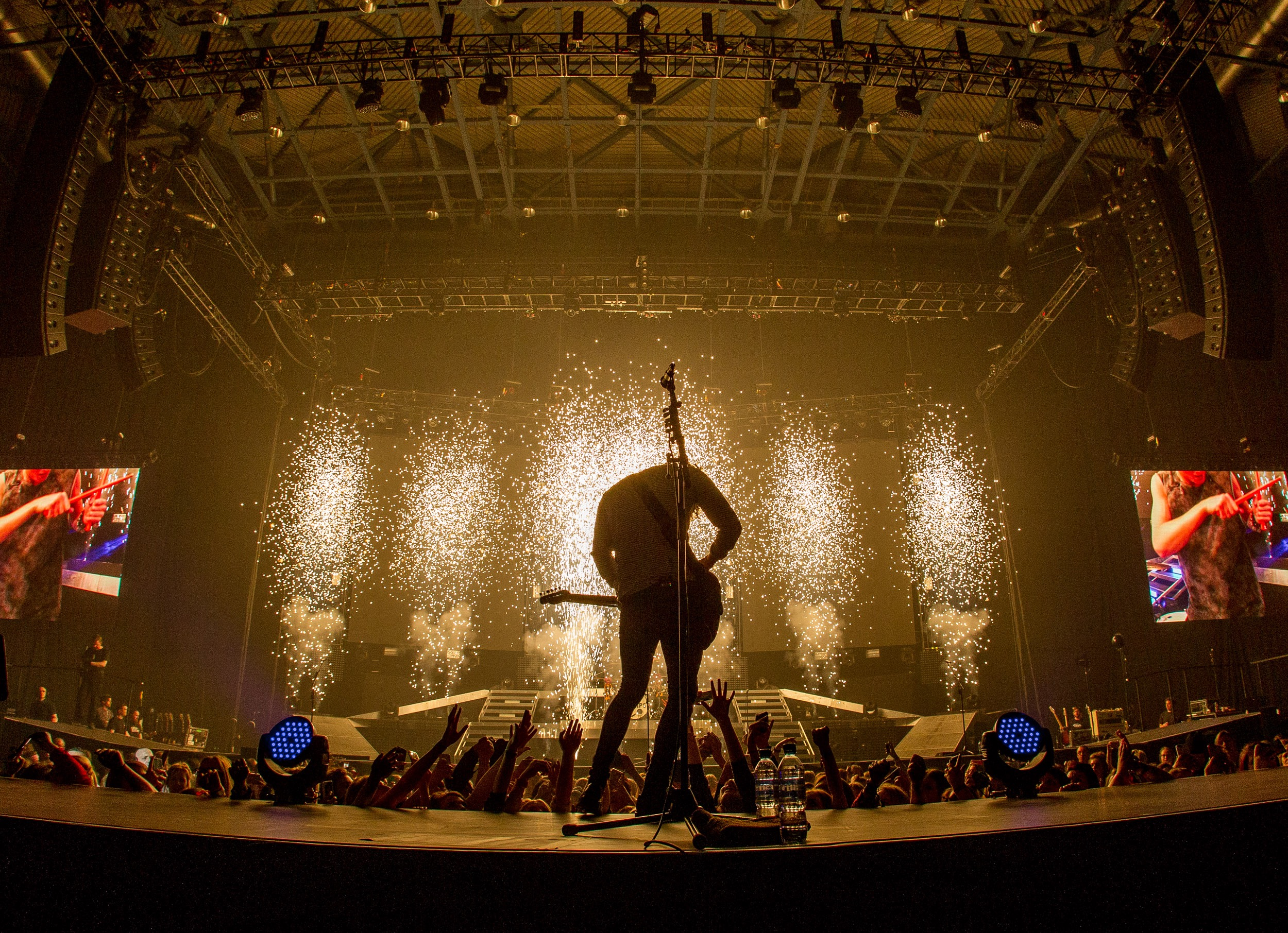 A close up of one of the stills I took at a show. Here's a silhouette of Brad at the end of Somebody To You.