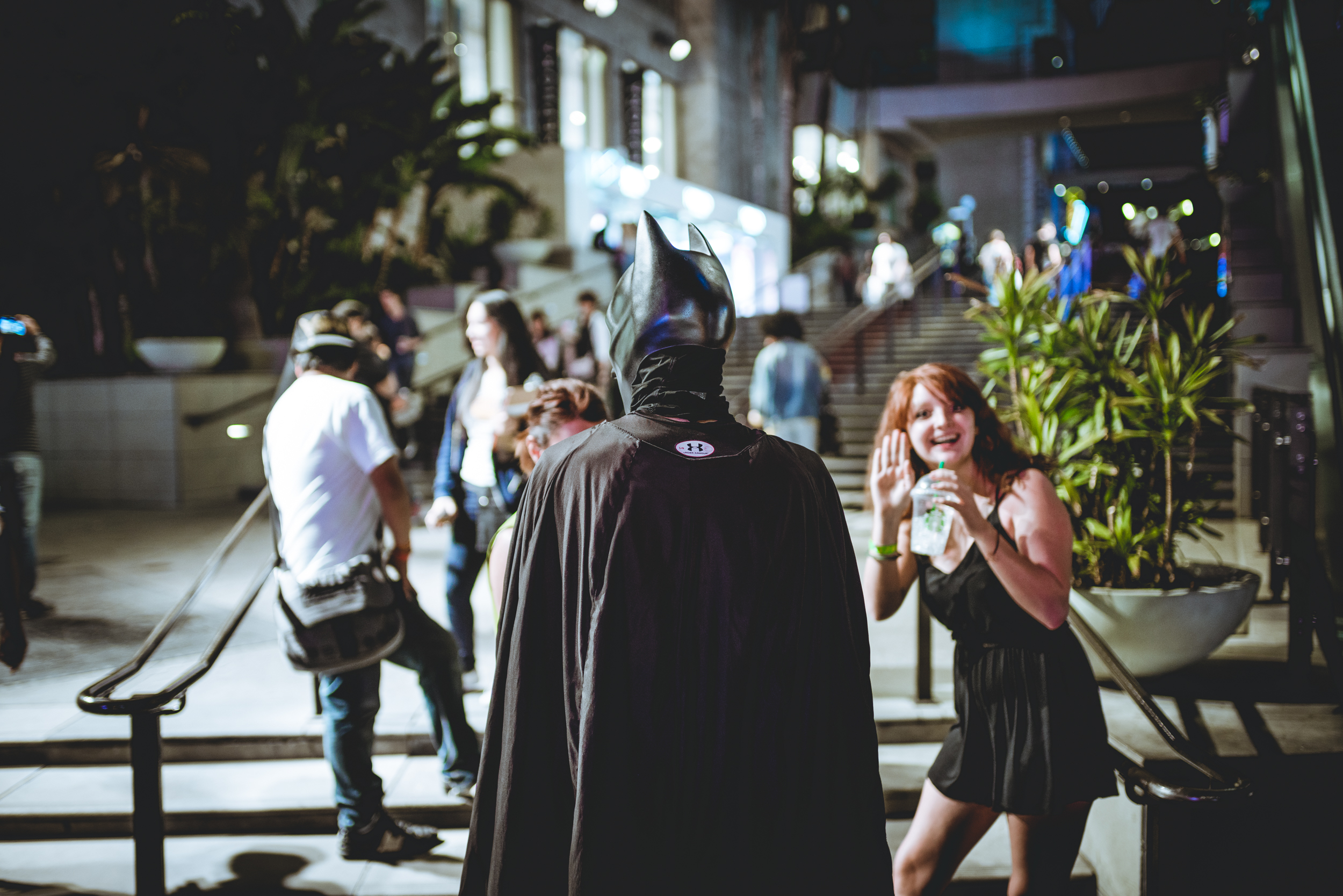 Batman and an over enthusiastic lady