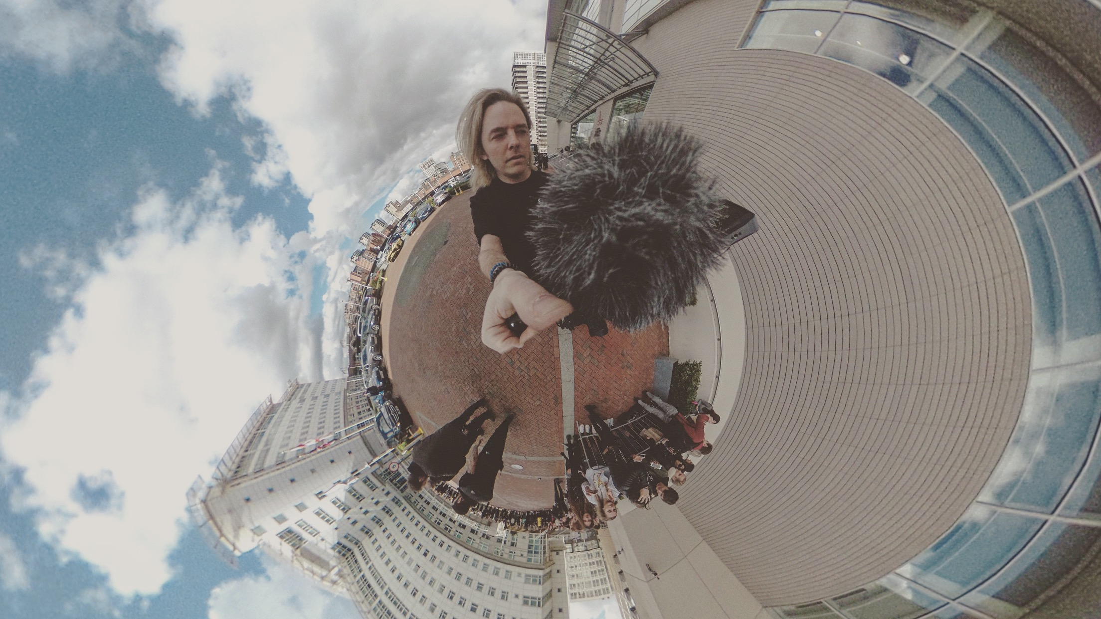 Theta 360 photo of me operating the Movi in Manchester on The Vamps UK Arena Tour.