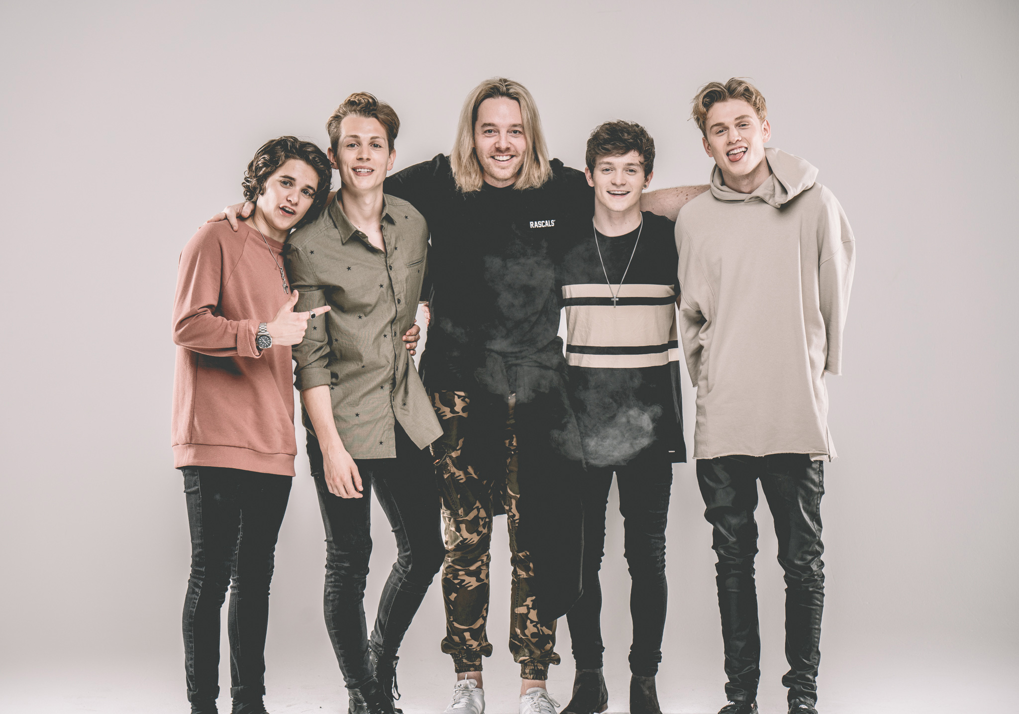 The Vamps and I. Hair was a little long and out of control here!