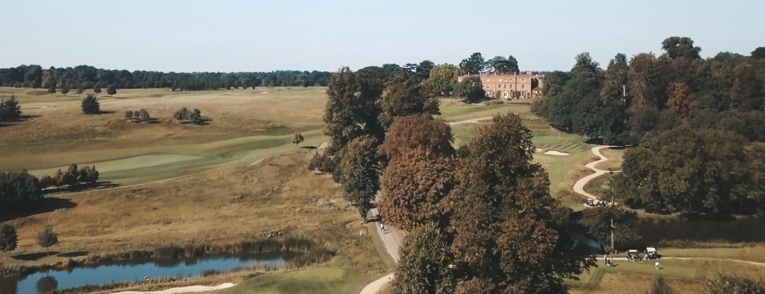 The fabulous Grove Hotel and Estate, not the worst backdrop for your first drone video.