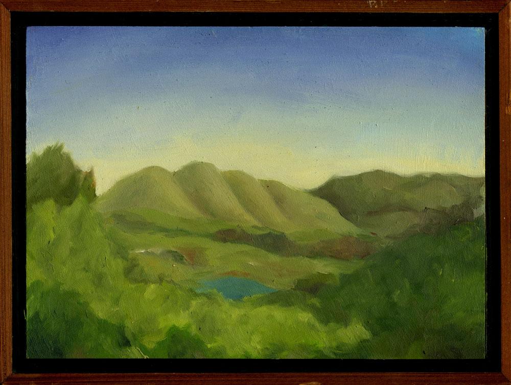 """Elephant Mountain  Oil on panel  7"""" x 9.5"""" 2010"""