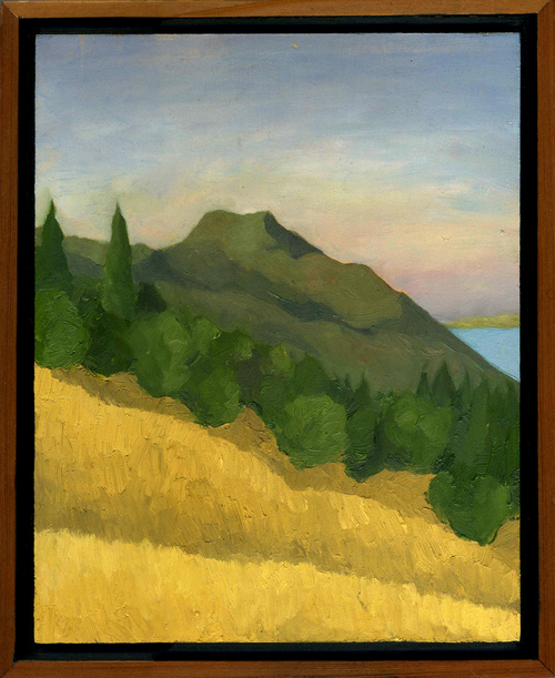 """Mt. Tam from Old Mine Trail #1  Oil on panel 10"""" x 8"""" 2009"""