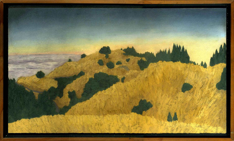 "Bolinas Ridge #6  Oil on panel 9.5"" x 17"" 2009"