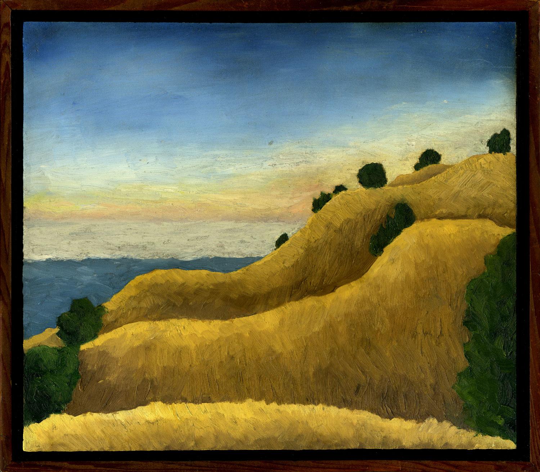 "Bolinas Ridge #2  Oil on panel 10.5"" x 12"" 2009"