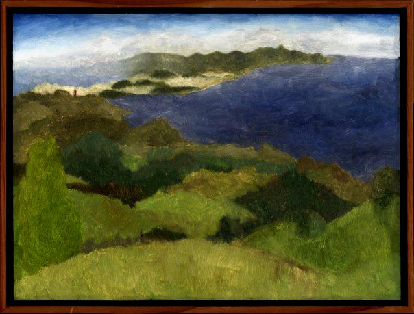 "Bolinas Ridge  Oil on panel 12"" x 16"" 2009"
