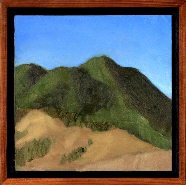 "Mt. Tamalpais from Four Corners #1  Oil on panel 6"" x 6"" 2008"
