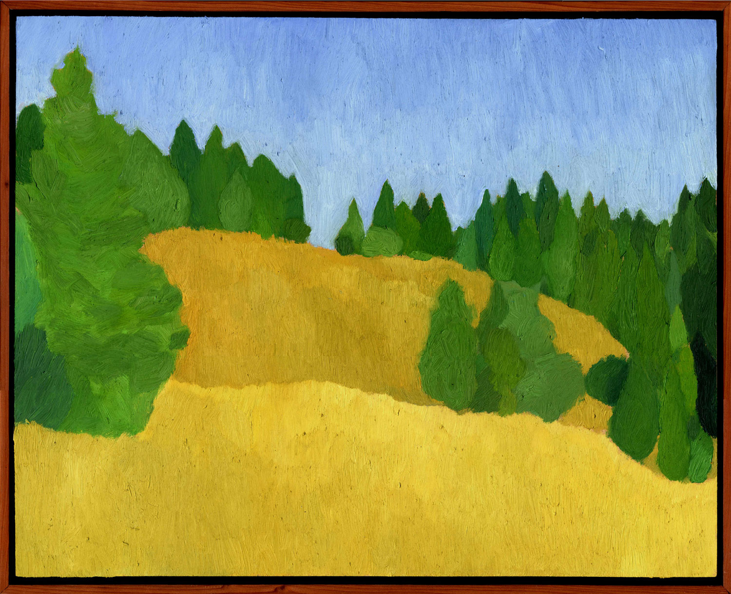 """Rolling Hills  Oil on panel 16"""" x 20"""" 2008"""