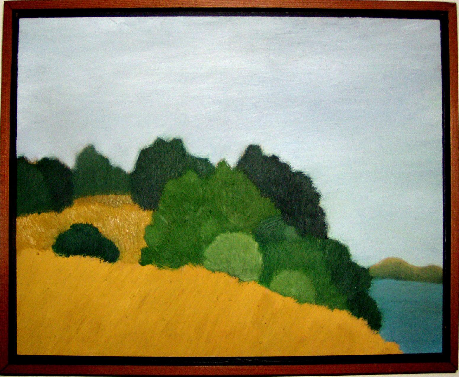 "Near Alexander Ave  Oil on panel 11"" x 14"" 2008"