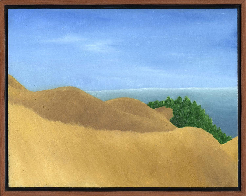 "Bolinas Ridge Rolling Hills  Oil on panel 11"" x 14"" 2008"