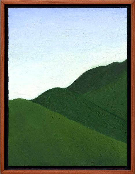 """Mt. Tamalpais from Fern Canyon Road #2  Oil on panel 9"""" x 7"""" 2008"""