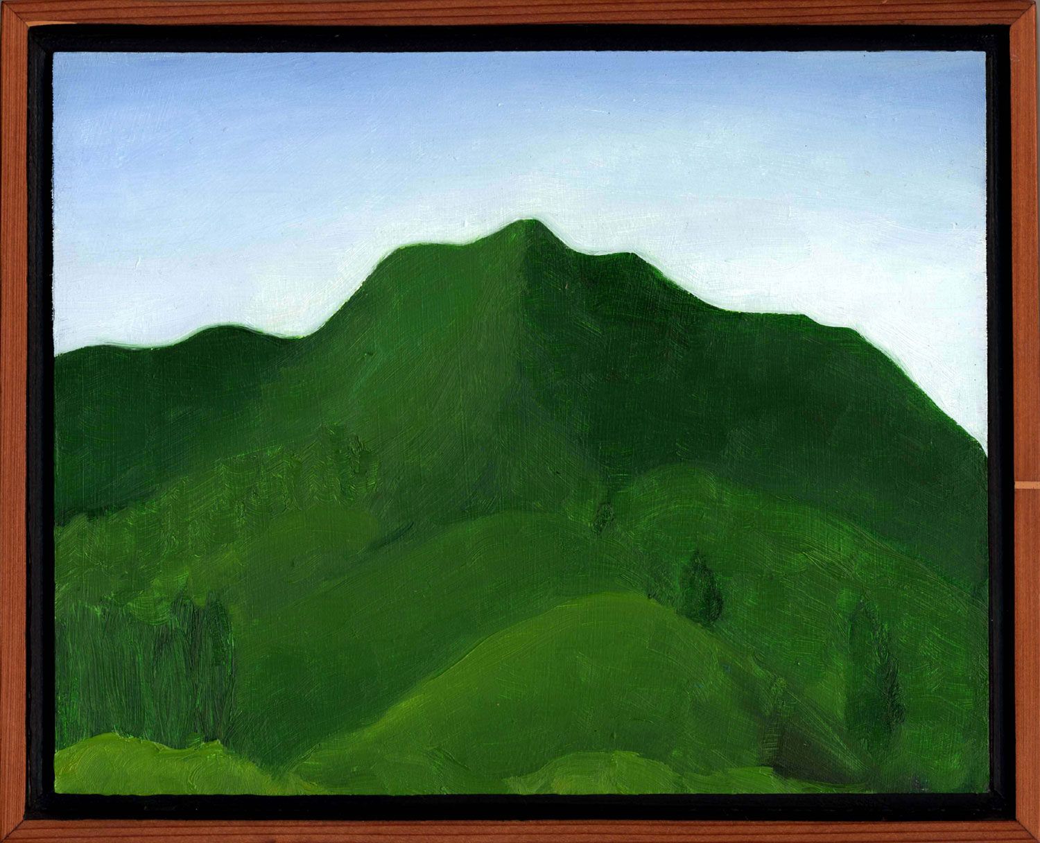 """Mt. Tamalpais from Fear Canyon Road #1  Oil on panel 8"""" x 10"""" 2008"""