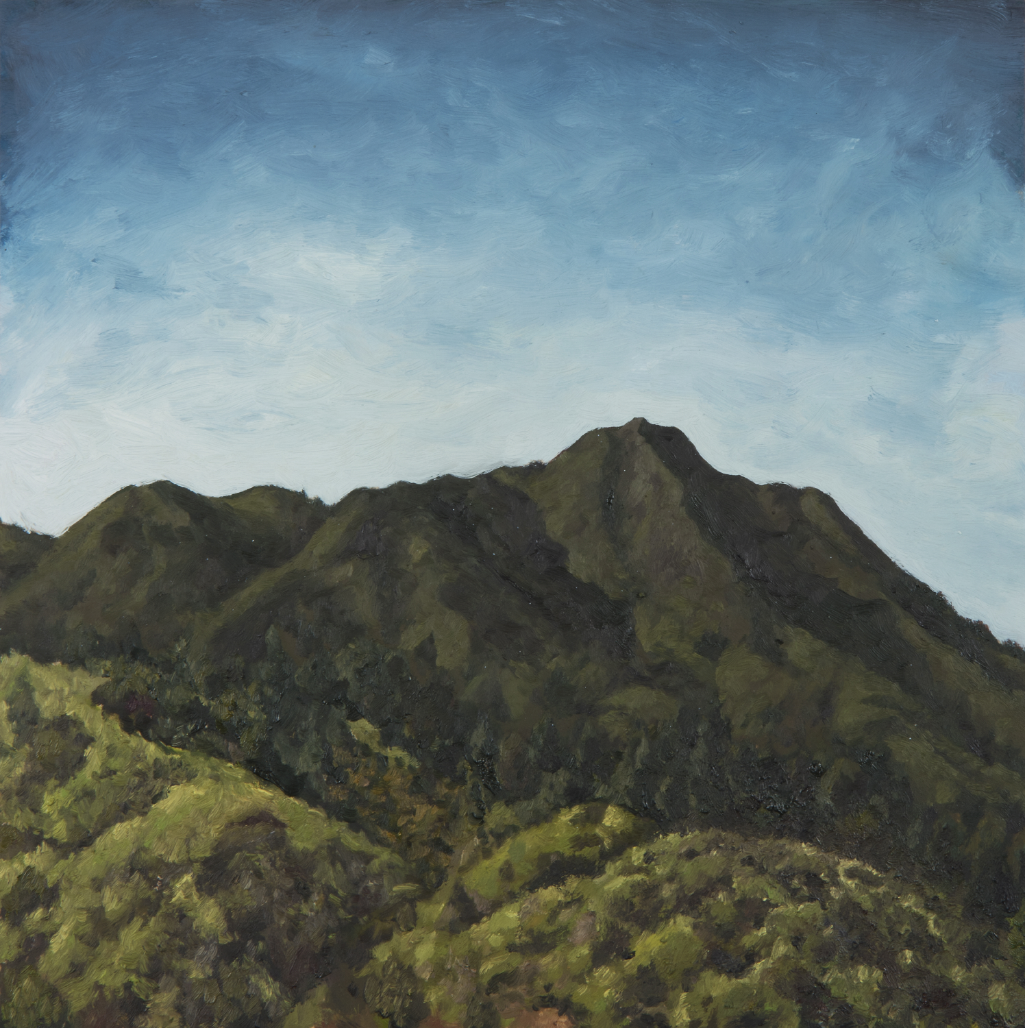 "Mt. Tamalpais from Four Corners  Oil on Panel 12"" x 12"" 2018"