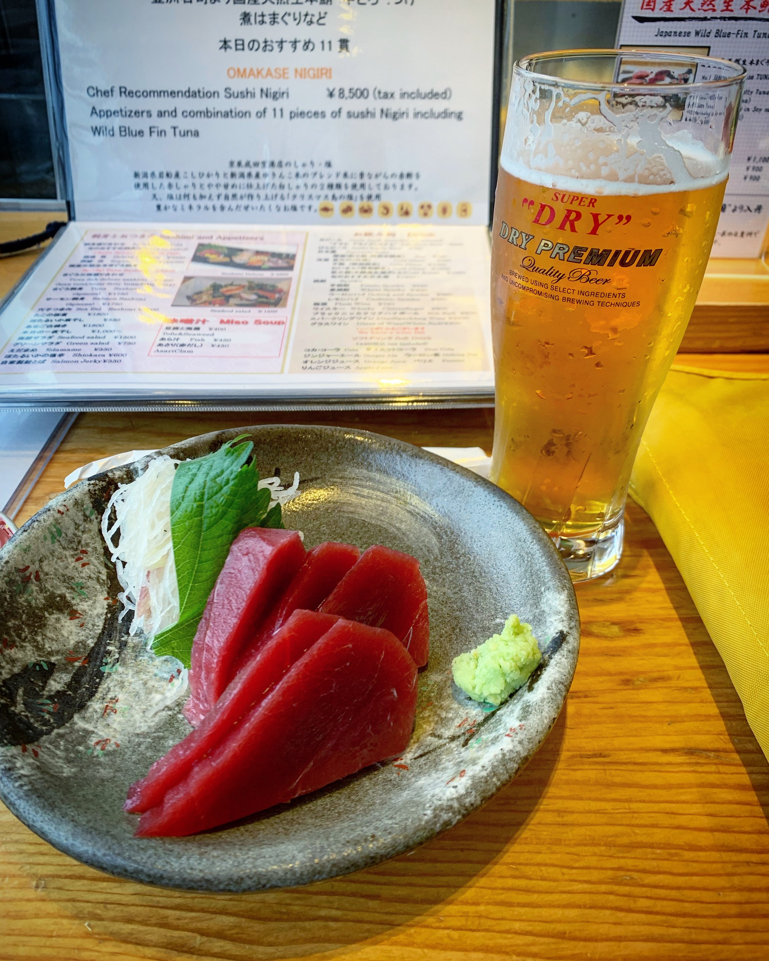 Maguro and a Lager