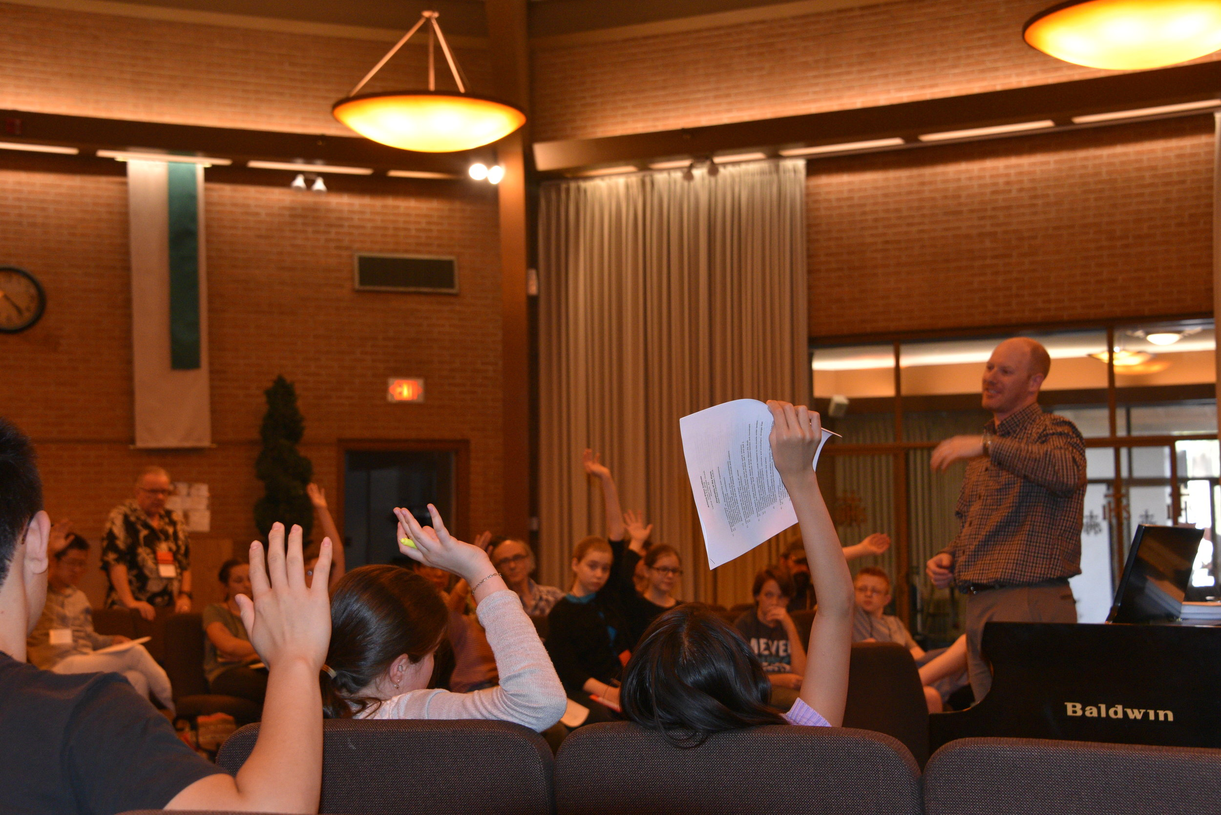 Kids Raising Hands for Elias.JPG