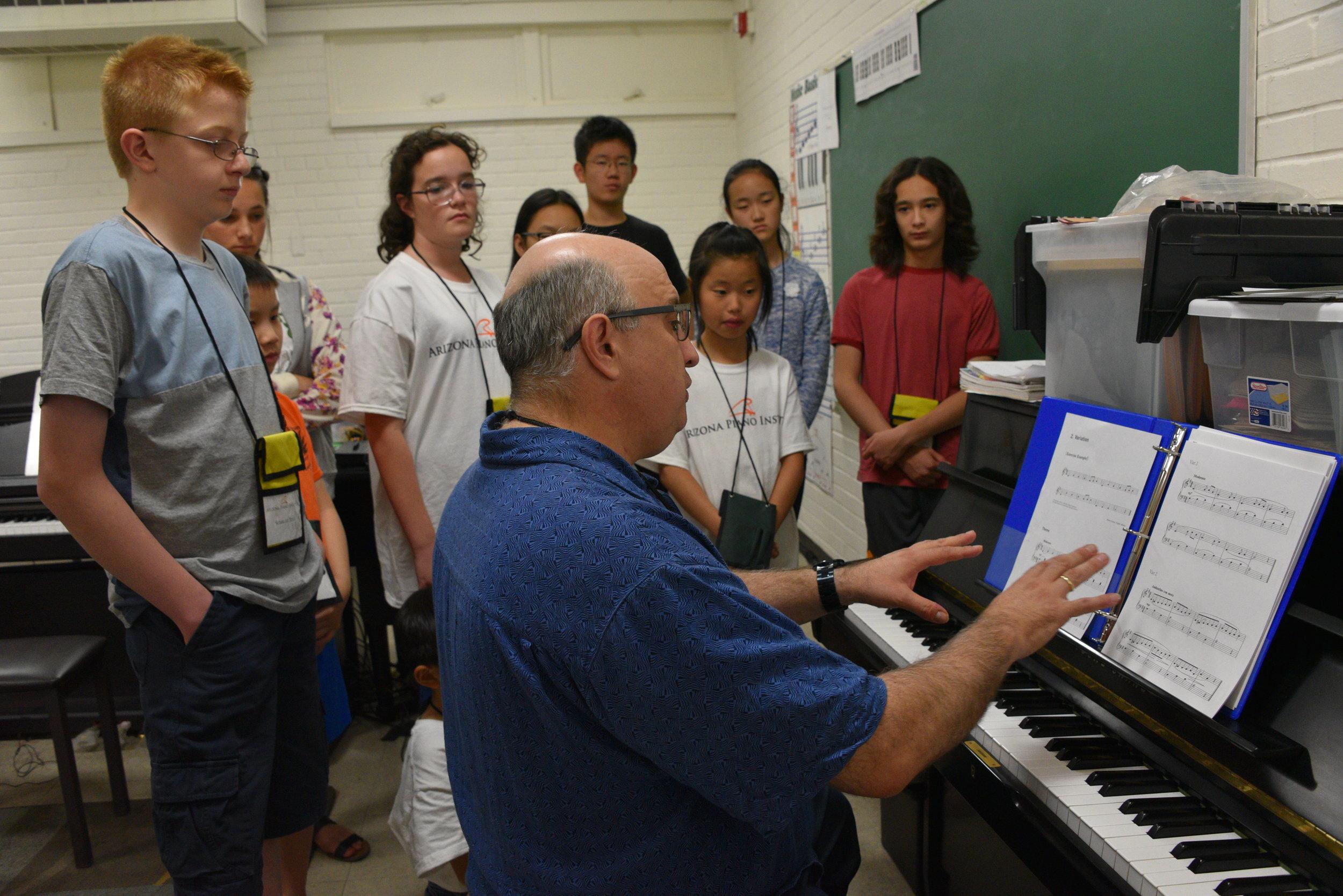 Piano Lab Gathered around the Piano with Vanja.JPG