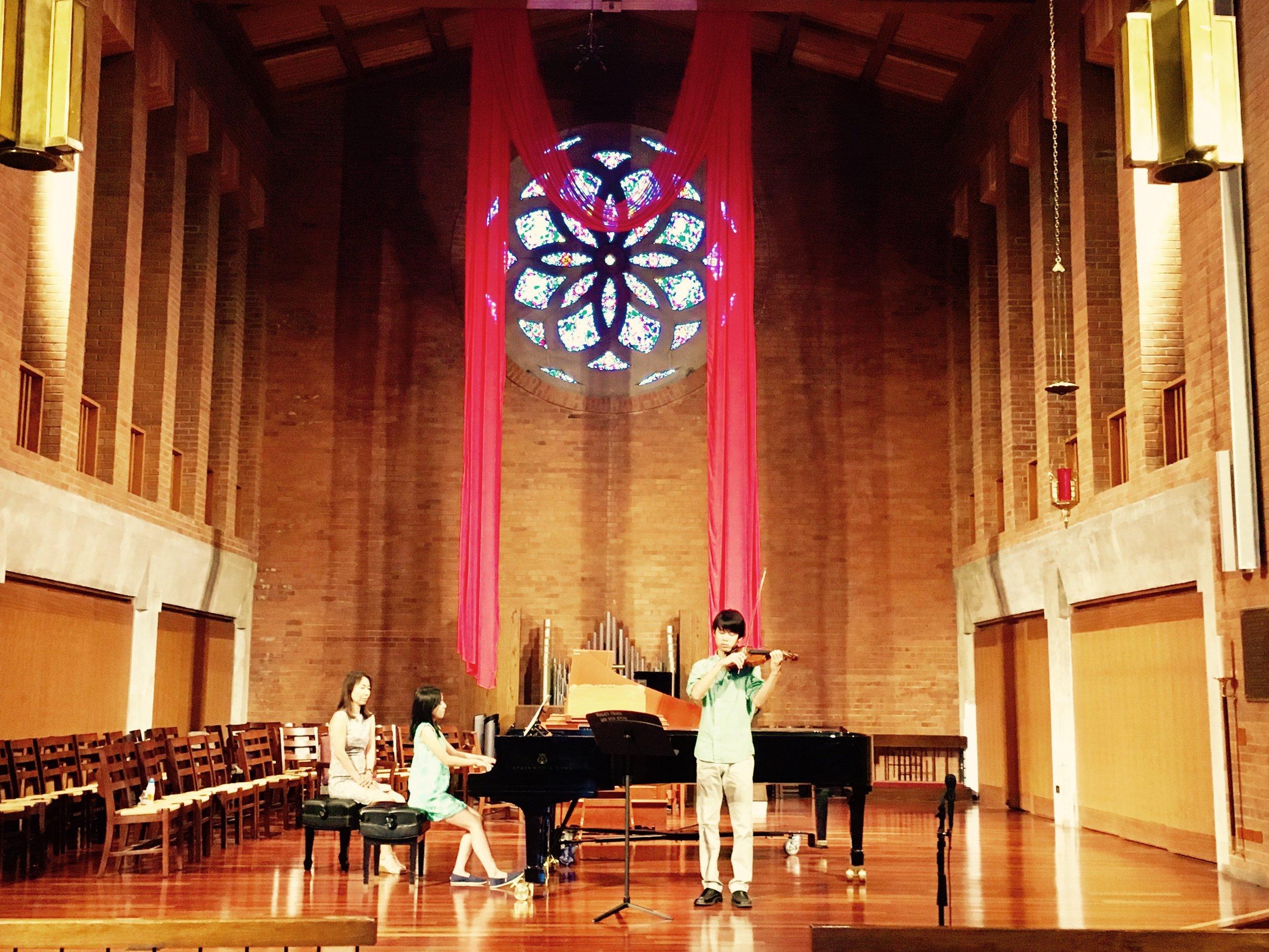 Asuka Collaborating with Violinist.JPG