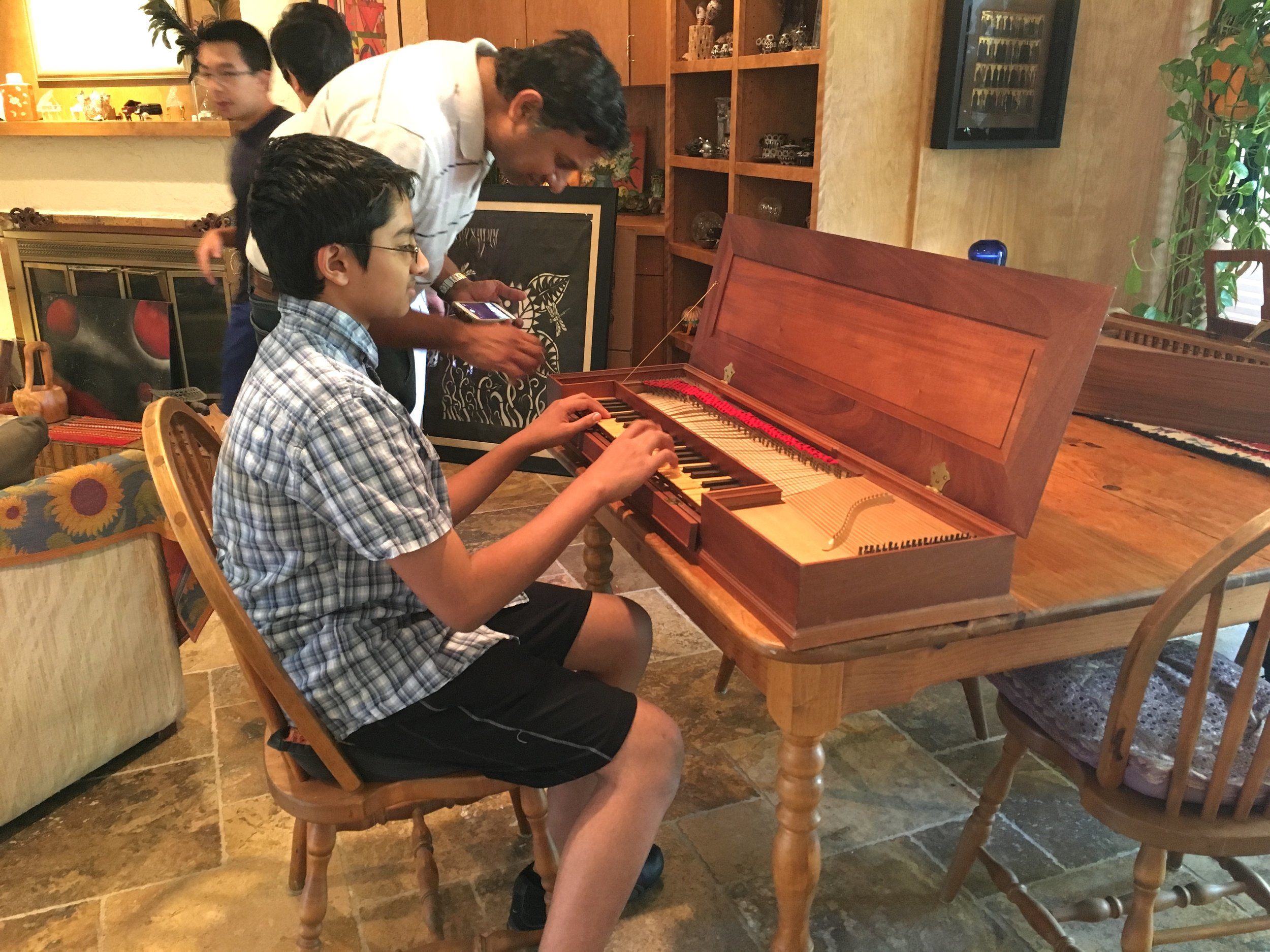Student and Dad on Clavichord.JPG