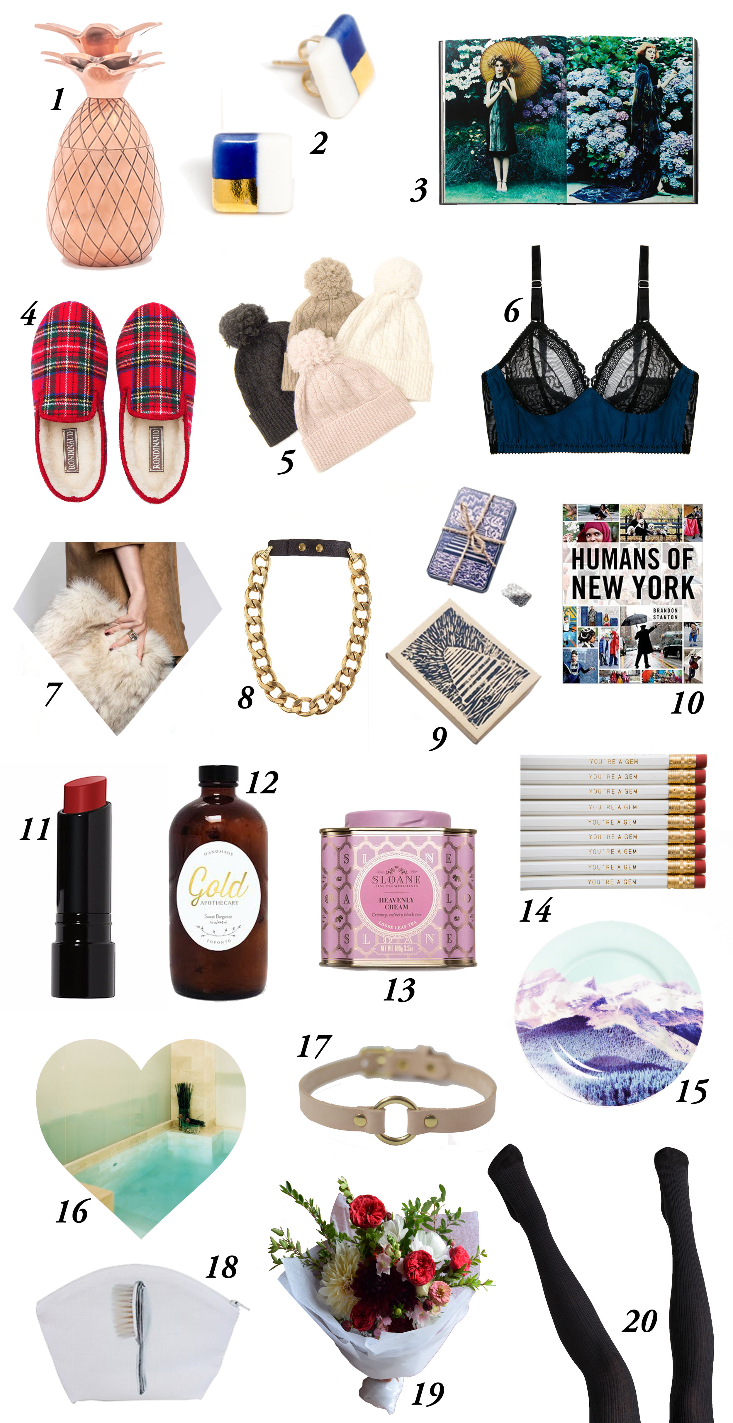 She Does The City. The Nice Nice List: Last minute shopping guide for the nice, naughty and nasty women of Toronto , December, 2016.