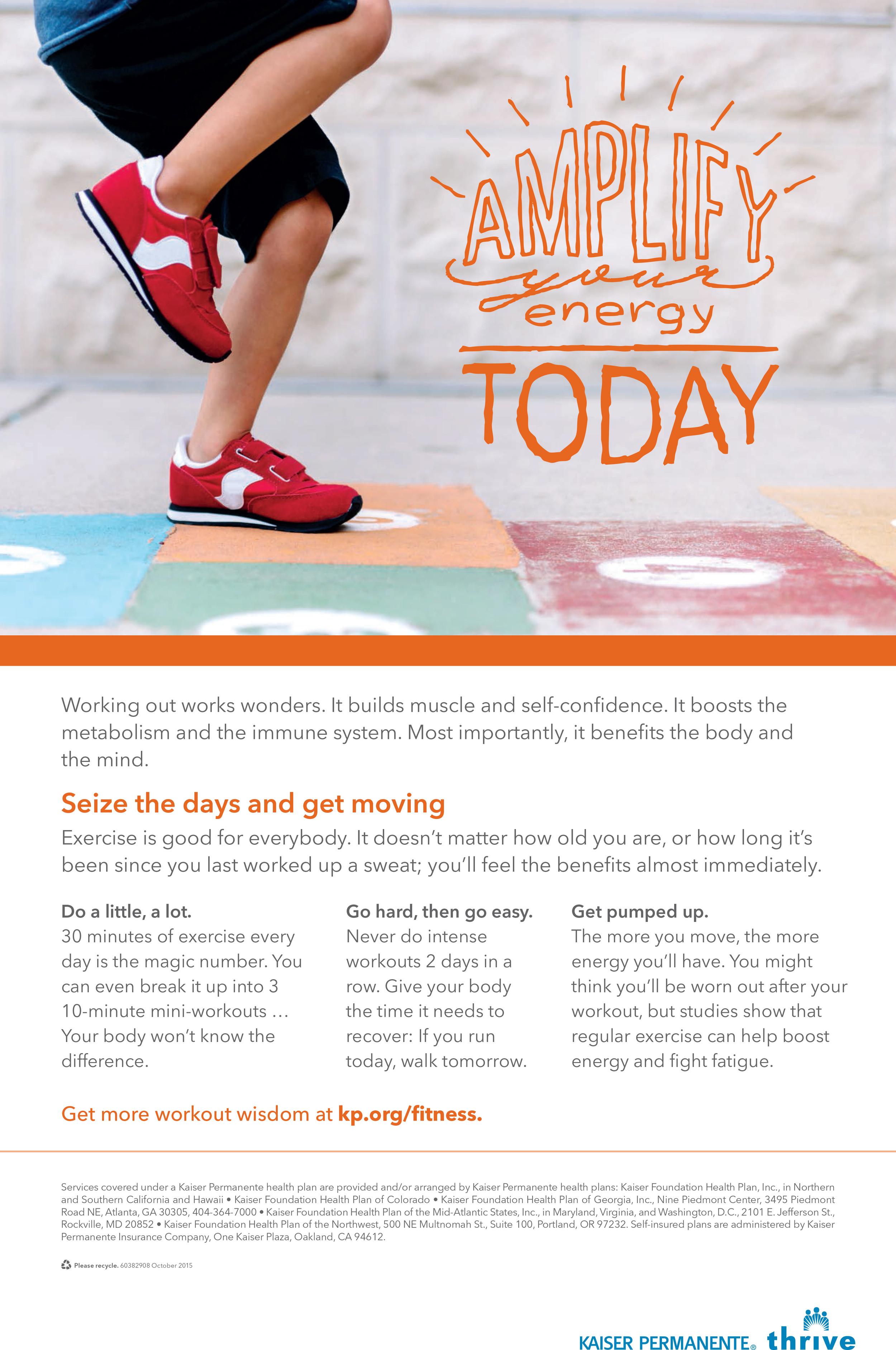 Kaiser Permanente January Fitness Poster