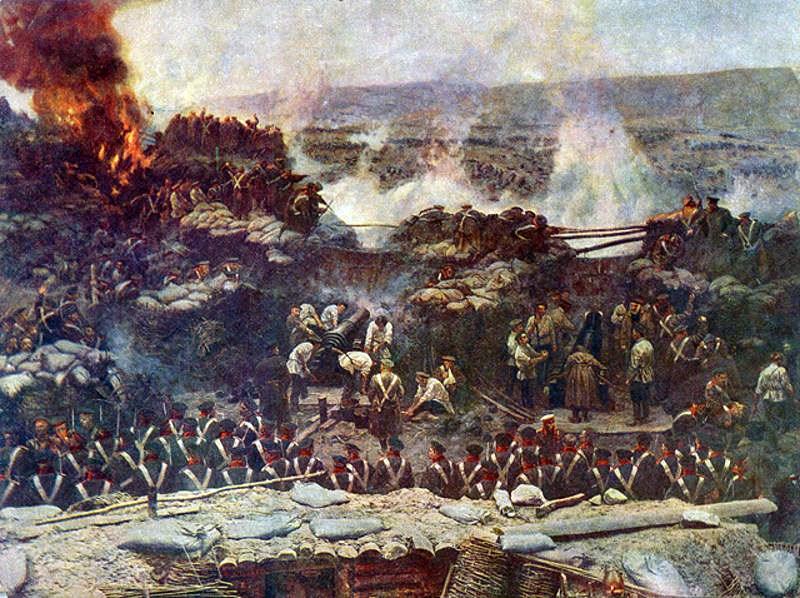 Деталь панорамы Франца Рубо Оборона Севастополя (1904).jpg