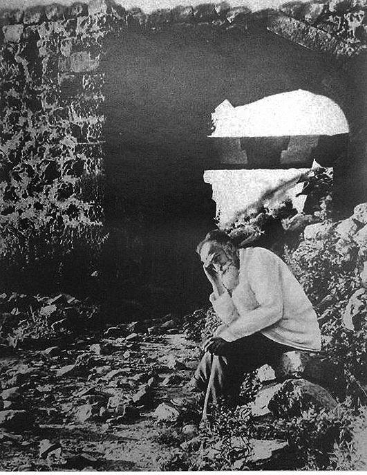 Иосиф Орбели у стен Амберда.JPG