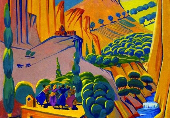 Изобразительное искусство XX века - С 1920-х годов армянские художники все чаще начинают обосновываться в Армении. В формировании новой художественной школы значительную роль сыграло творчество Мартироса Сарьяна и Степана Агаджаняна.