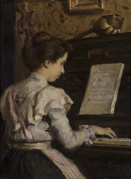 Девушка у пианино 1899