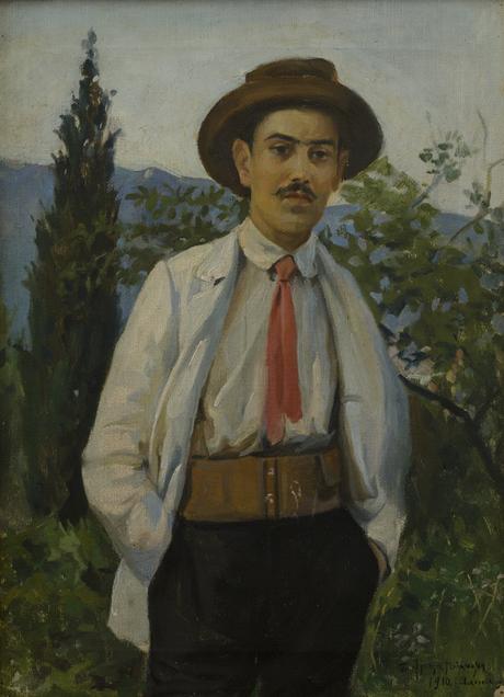 Портрет заслуженного деятеля, скрипача Саака Артемьевича Хорозяна 1910