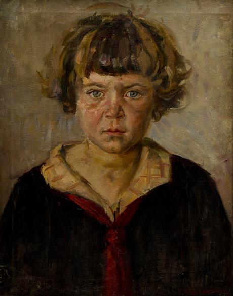 Девочка с растрепанными волосами (Седа в красном галстуке) 1928