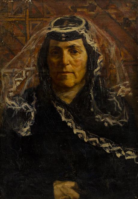 Портрет Тикин Агаджанян, матери Г. Хачатряна 1925
