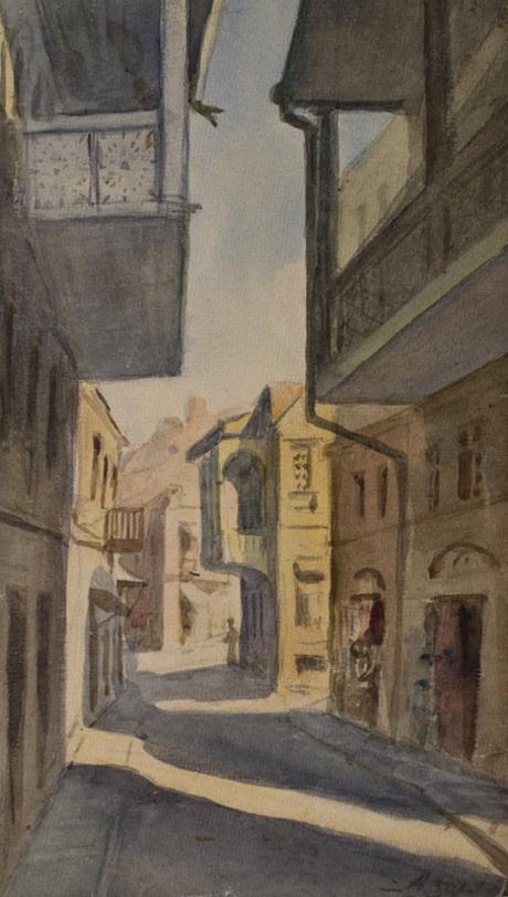 В старом Тбилиси, акварель