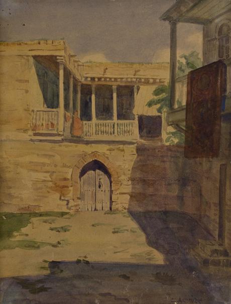Дворик в Тифлисе 1909