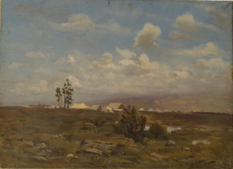 Лагерь в поле 1915