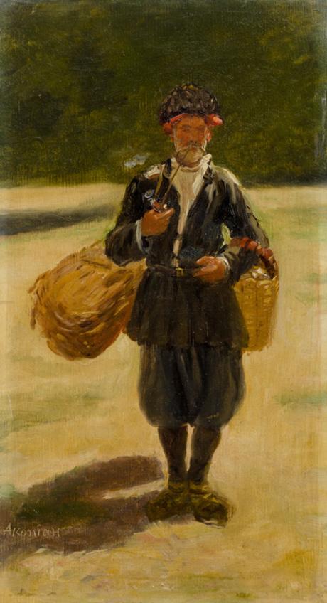 Крестьянин с корзиной