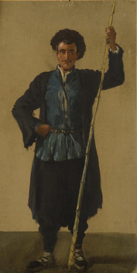 Молодой крестьянин с тростниковой палкой